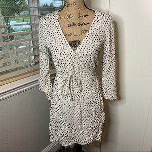 Billabong Rayon Polka Dot Wrap Dress